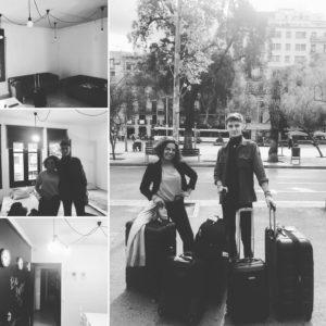 Arrivée de Julien et Soline en Espagne