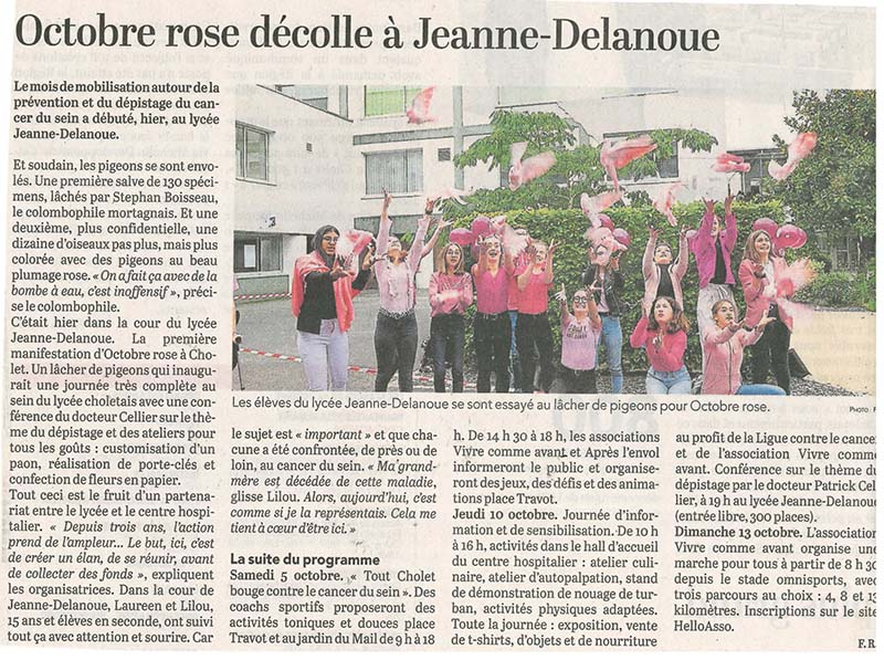 article octobre rose à jeanne delanoue
