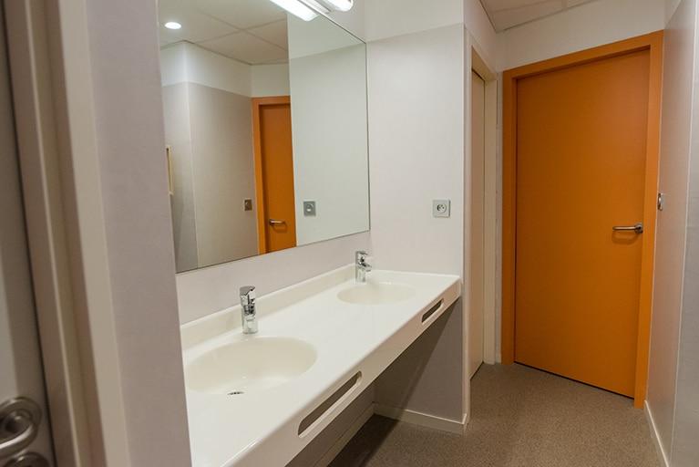 salle de bain a l'internat