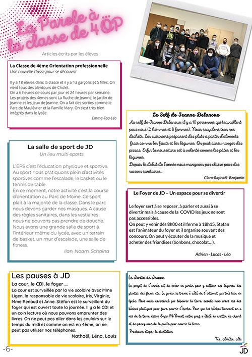 Sixième page